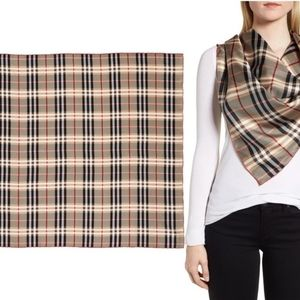 Authentic Burberry Castleford Check Silk Scarf